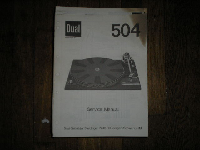 504 Turntable Service Manual