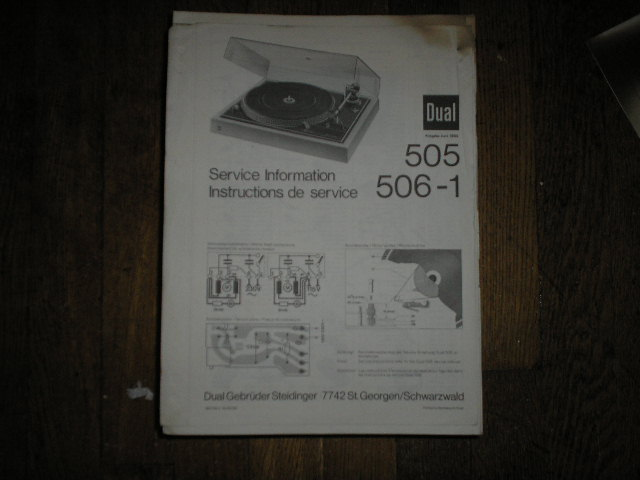505 506-1 Turntable Service Manual