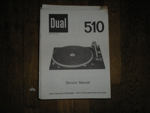 510 Turntable Service Manual