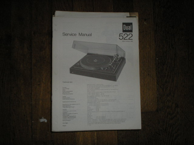 522 Turntable Service Manual