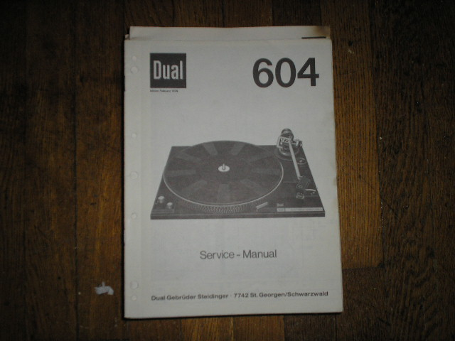604 Turntable Service Manual
