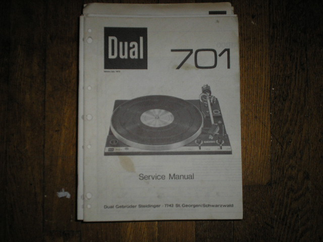 701 Turntable Service Manual