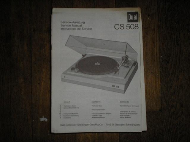 CS508 CS 508 Turntable Service Manual