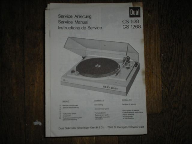 CS528 CS1268 CS 528 CS 1268 Turntable Service Manual
