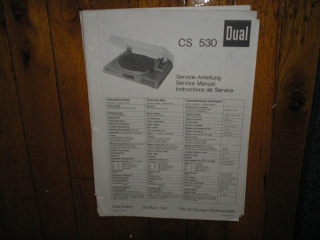 CS530 CS 530 Turntable Service Manual