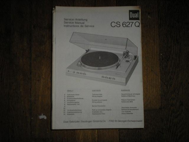 CS627Q CS 627 Q Turntable Service Manual