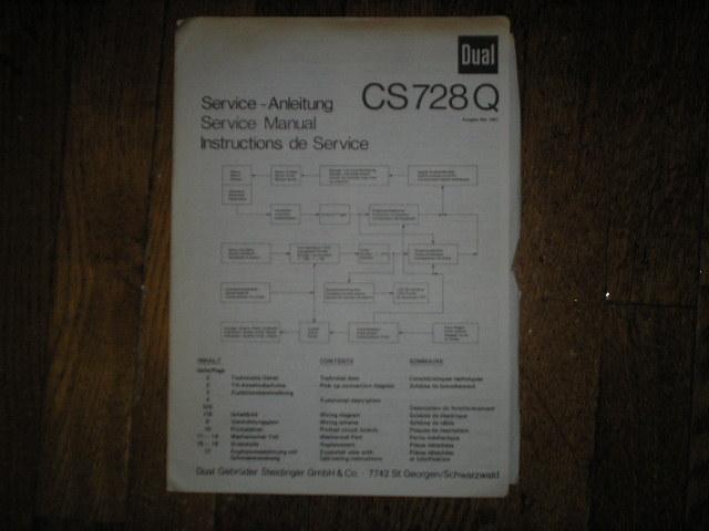 CS728Q CS 728 Q Turntable Service Manual