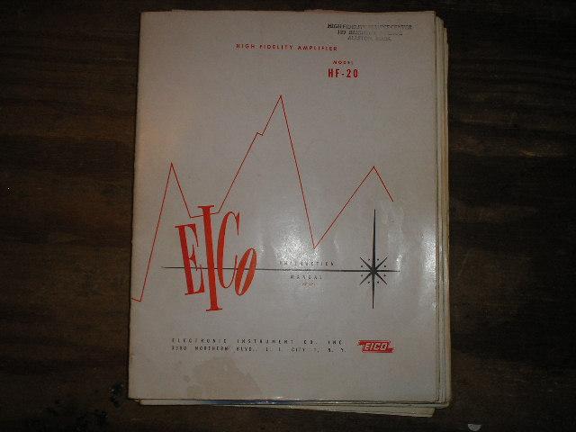 HF-20 High Fidelity Amplifier Service Instruction Manual