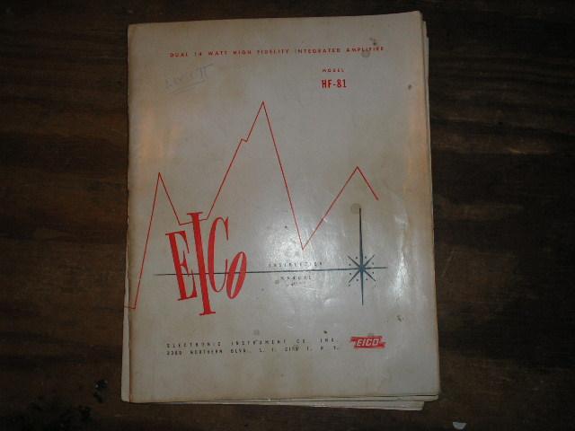 HF-81 High Fidelity Amplifier Service Instruction Manual