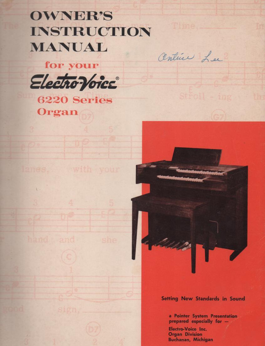 6220 Organ Owners Manual