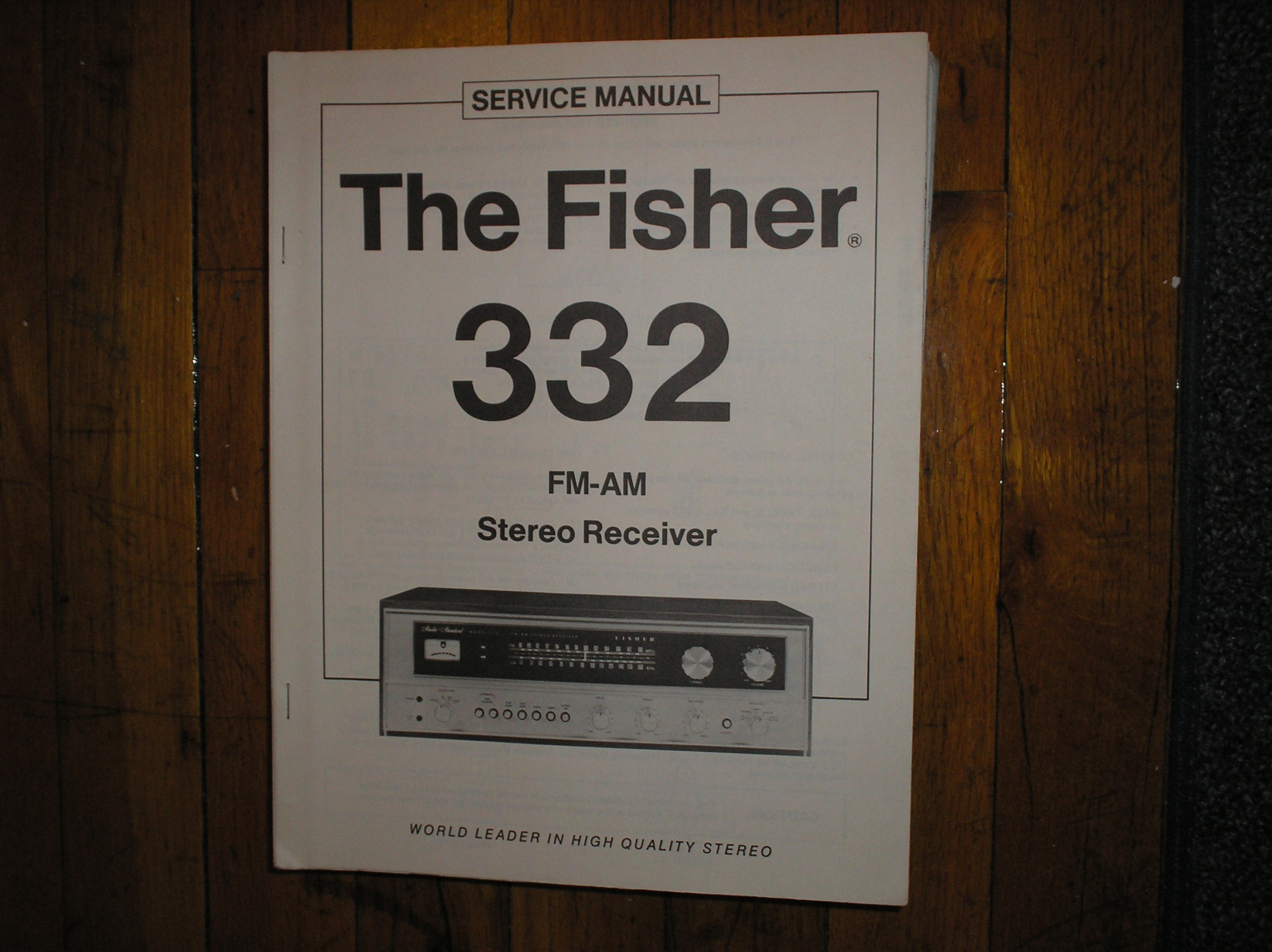 332 Receiver Service Manual