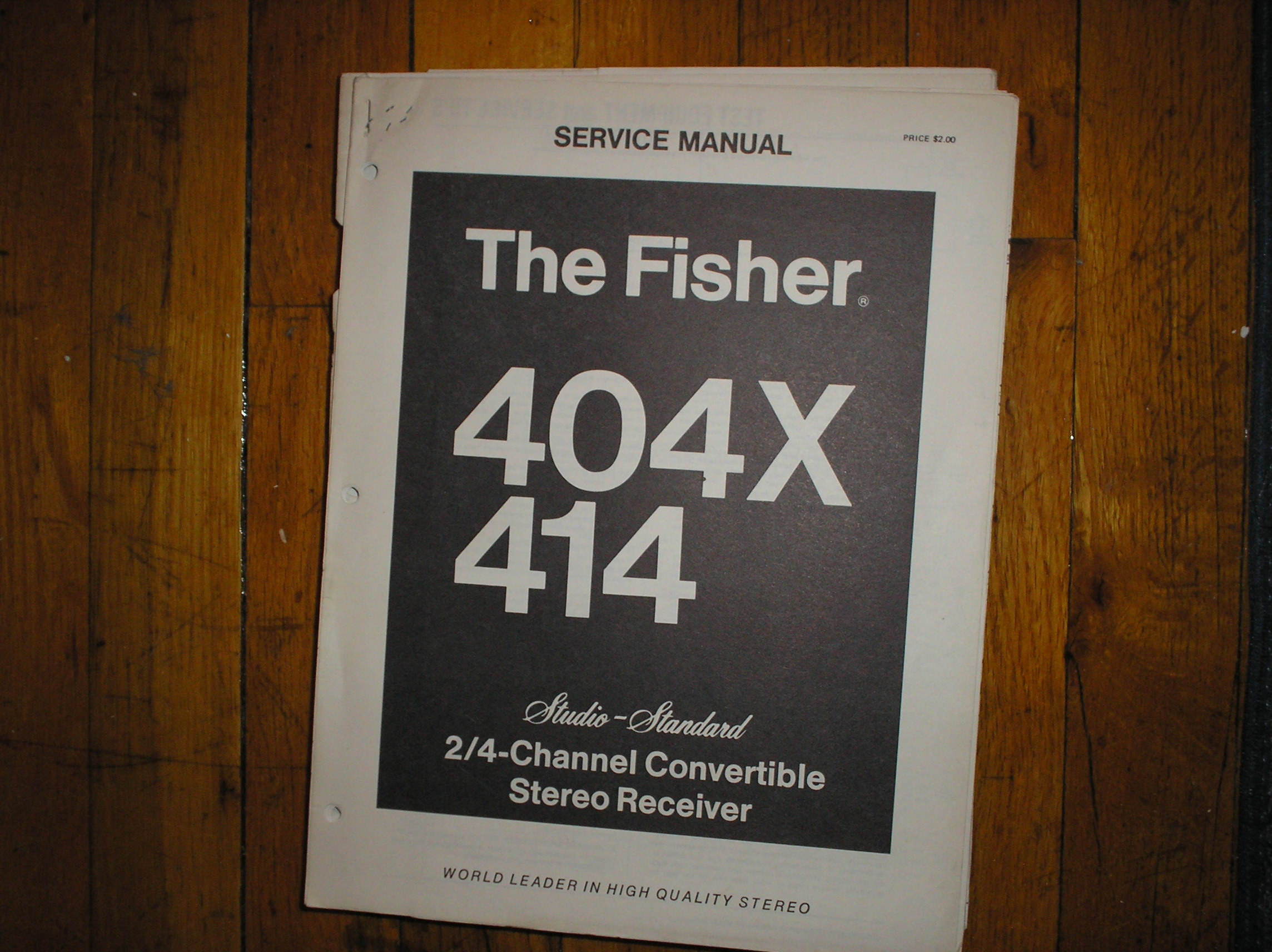 404X 414 Receiver Service Manual