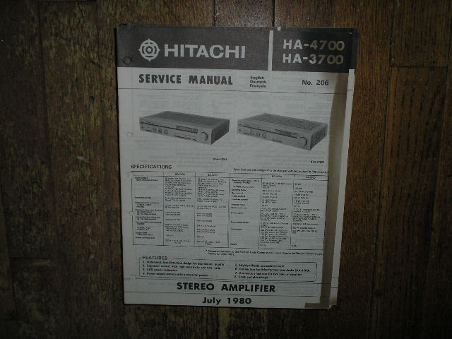 HA-3700 HA-4700 Amplifier Service Manual