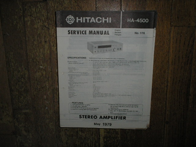 HA-4500 Amplifier Service Manual
