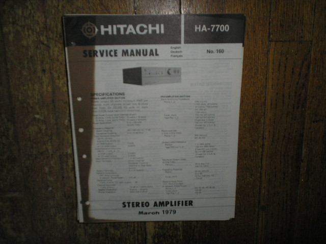 HA-7700 Amplifier Service Manual