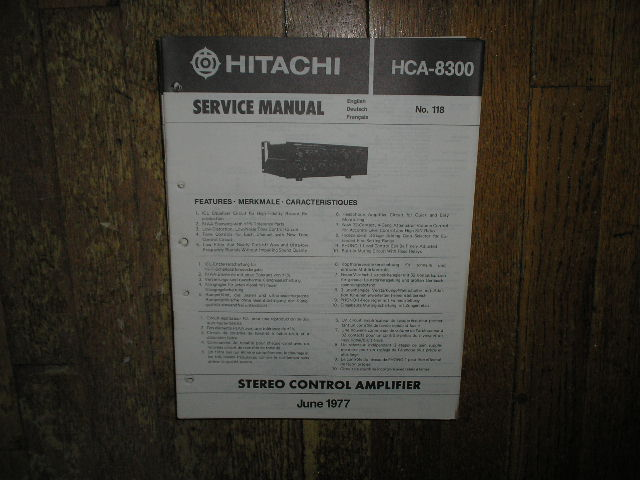 HCA-8300 Pre-Amplifier Service Manual