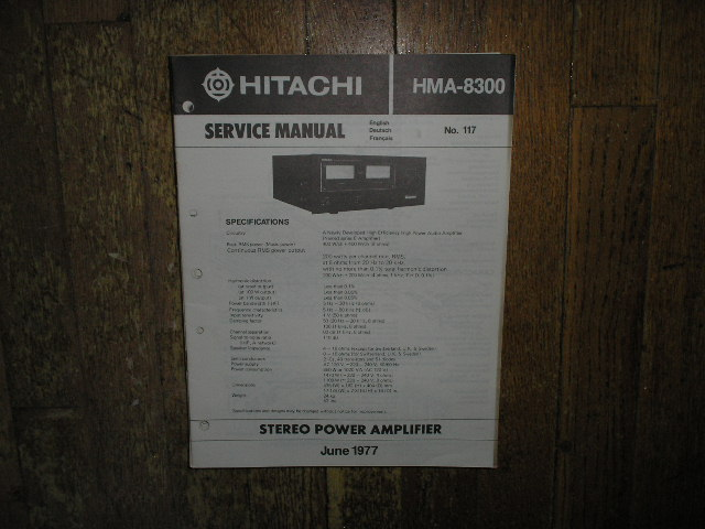 HMA-8300 Amplifier Service Manual