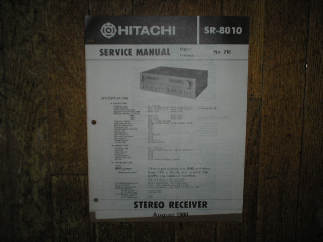 SR-8010 Receiver Service Manual