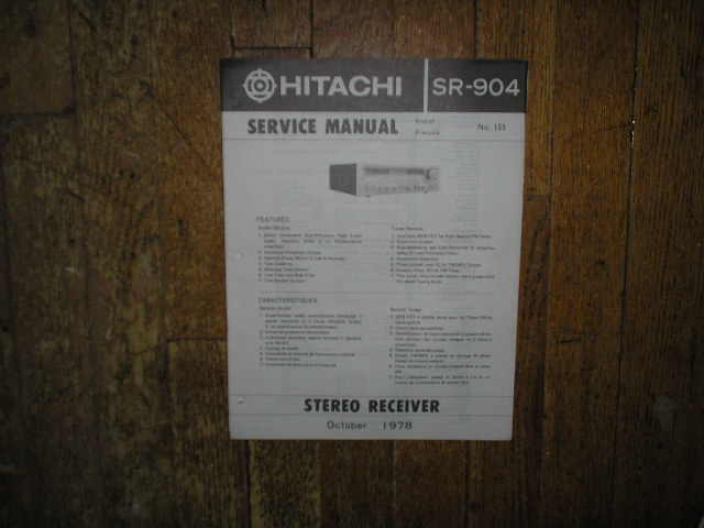 Hitachi SR-904 Receiver Instruction Manual