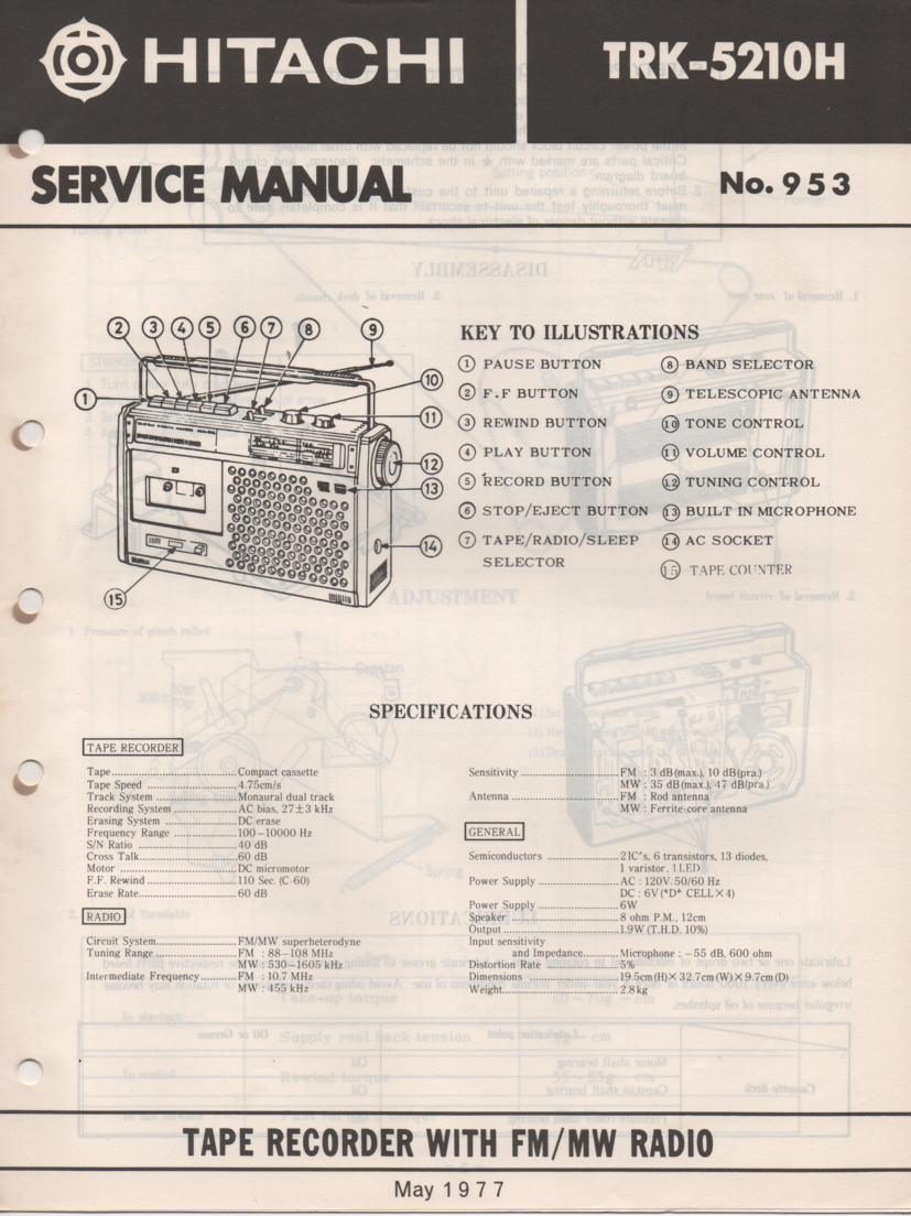 TRK-5210H Radio Service Manual