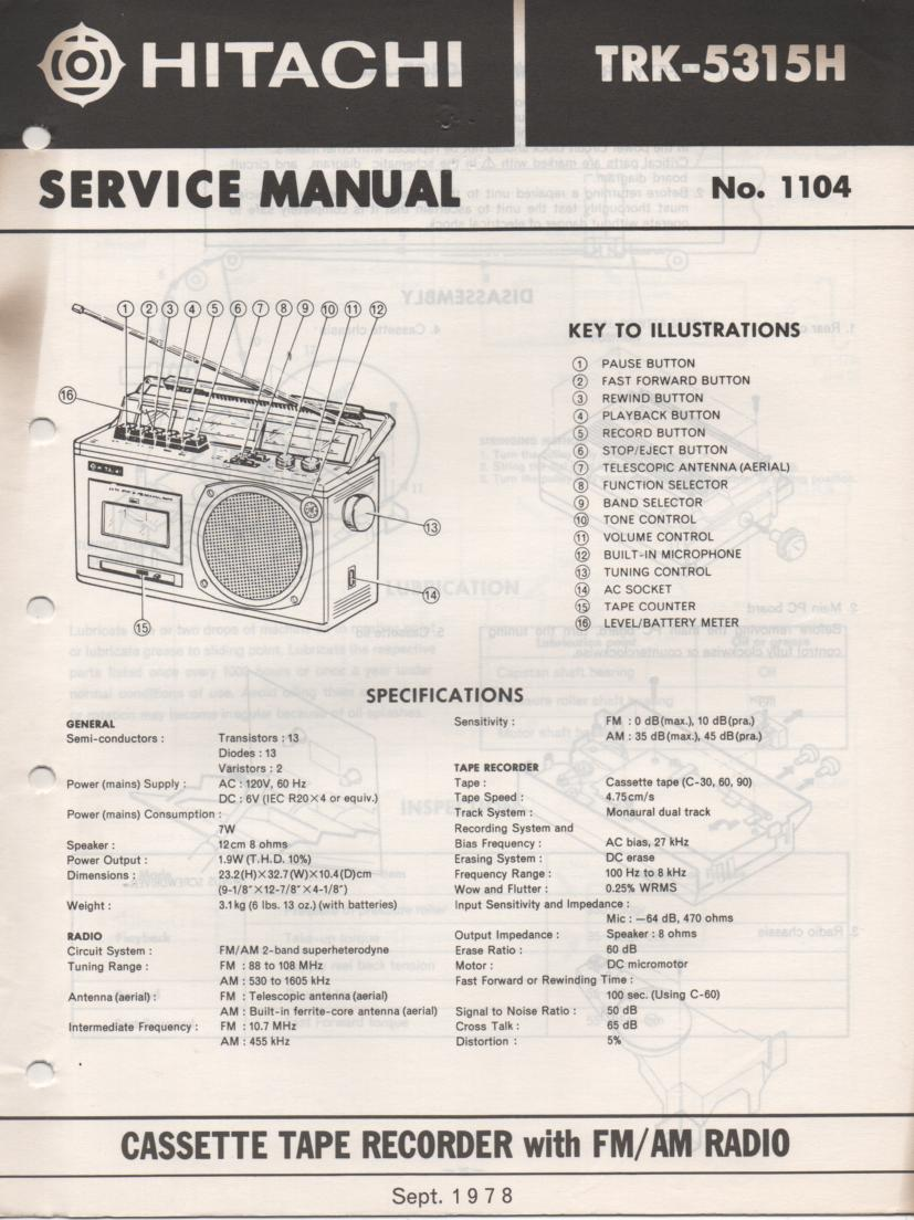 TRK-5315H Radio Service Manual