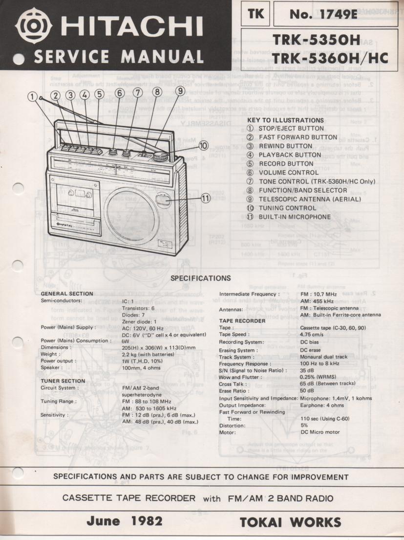TRK-5350H TRK-5360H TRK-5360HC Radio Service Manual