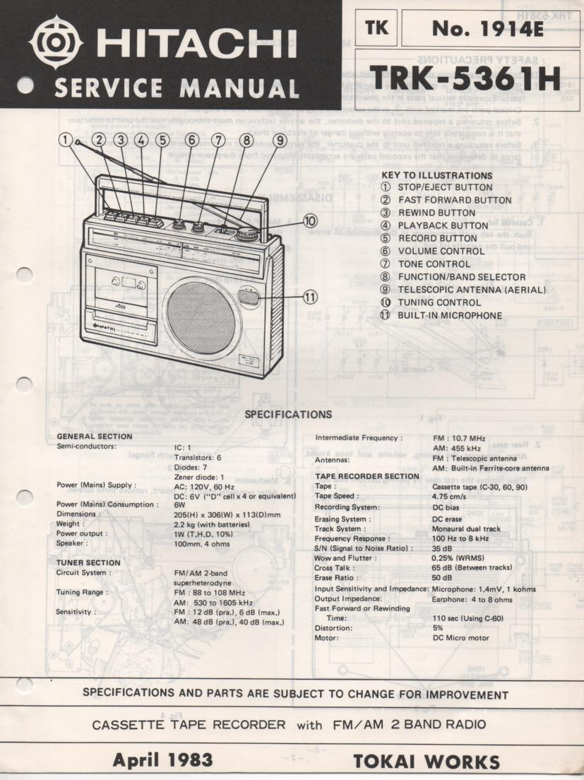 TRK-5361H Radio Service Manual