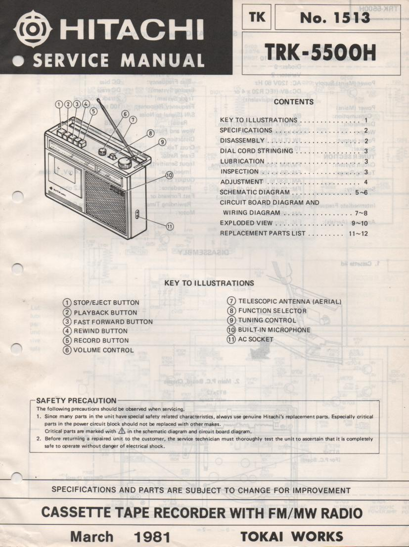 TRK-5500H Radio Service Manual