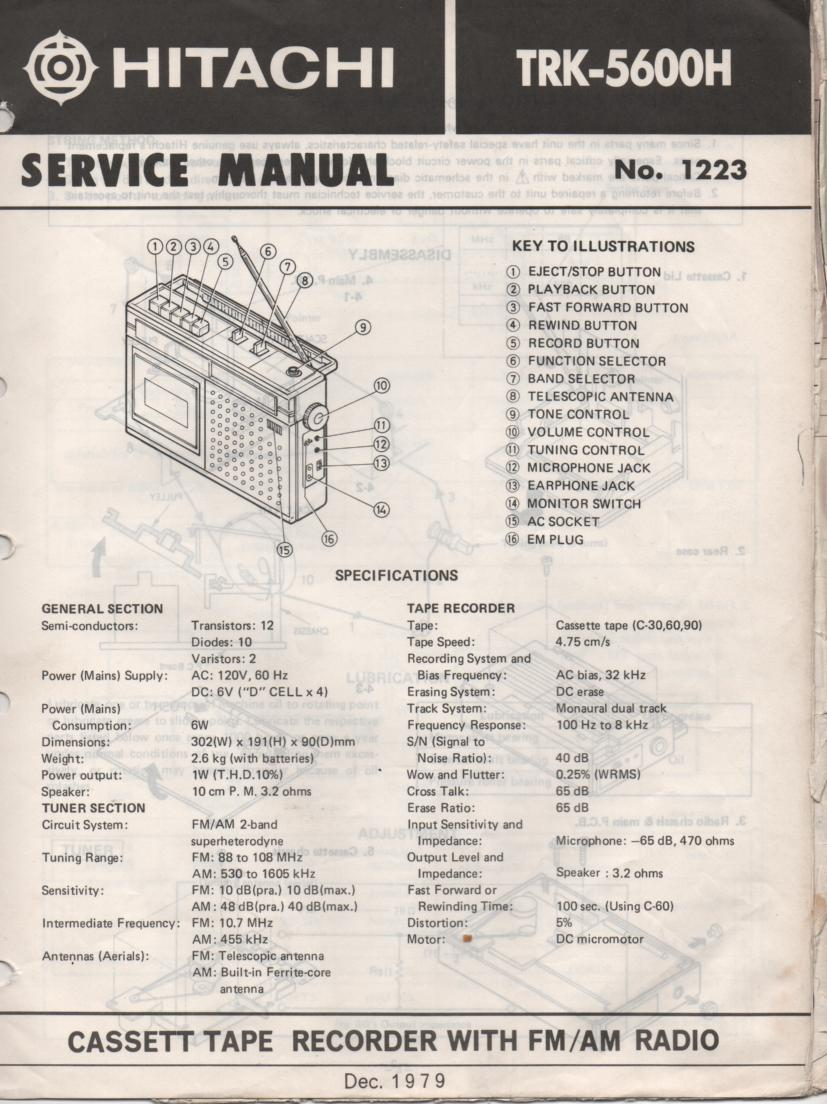 TRK-5600H Radio Service Manual