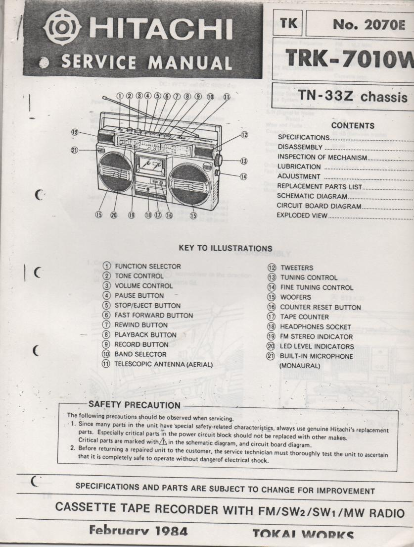 TRK-7010W Radio Service Manual