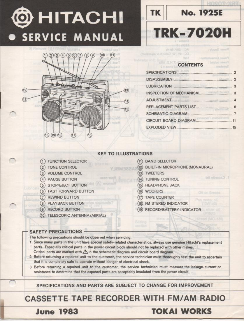 TRK-7020H Radio Service Manual