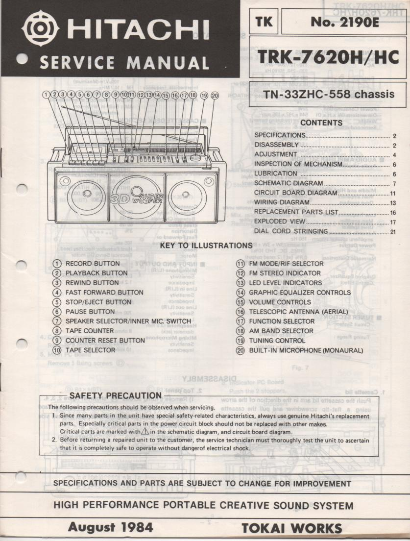 TRK-7620 TRK-7620HC Radio Service Manual