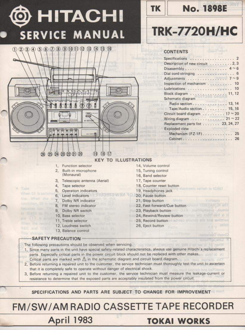 TRK-7720H TRK-7720HC Radio Service Manual