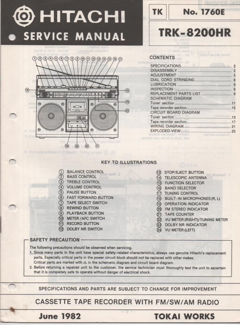TRK-8200HR Radio Service Manual