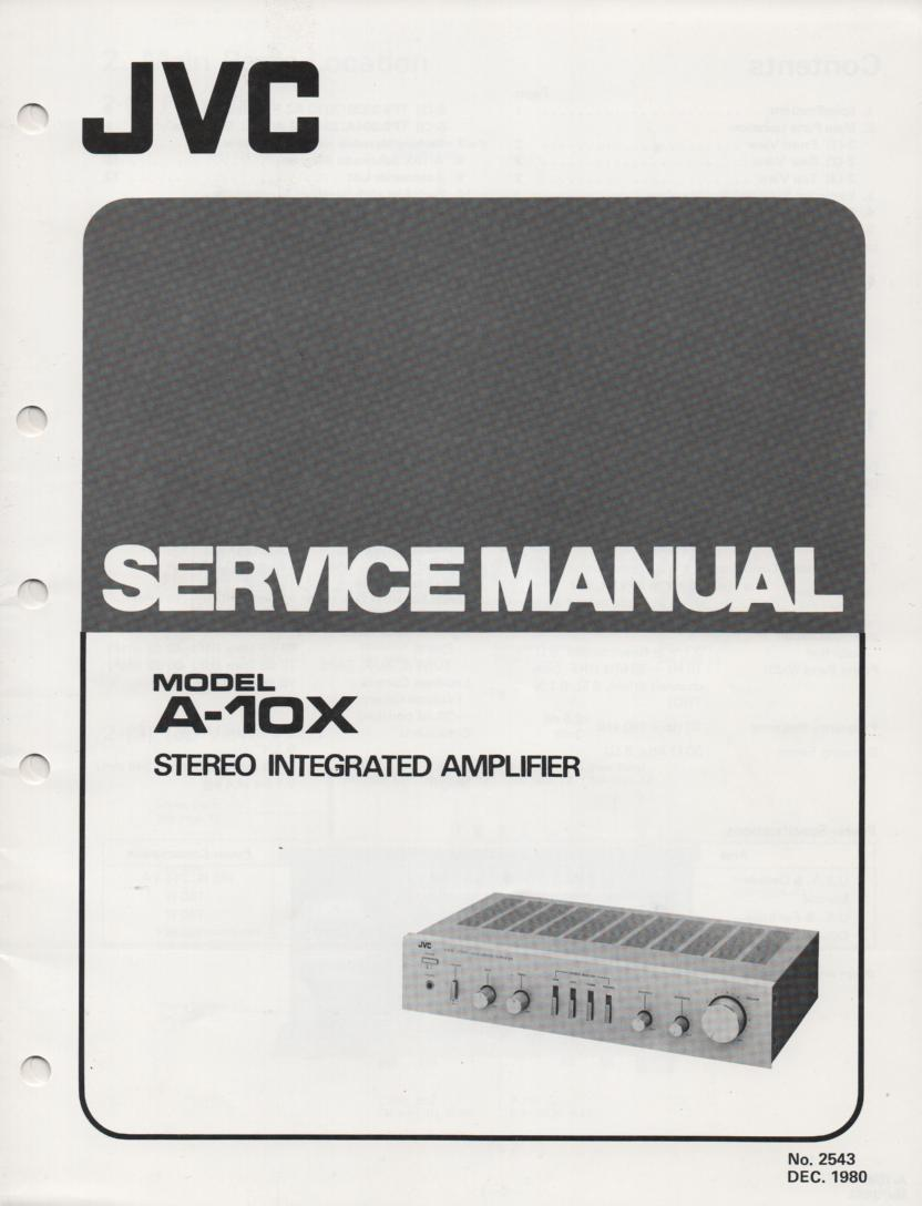 A-10X Amplifier Service Manual