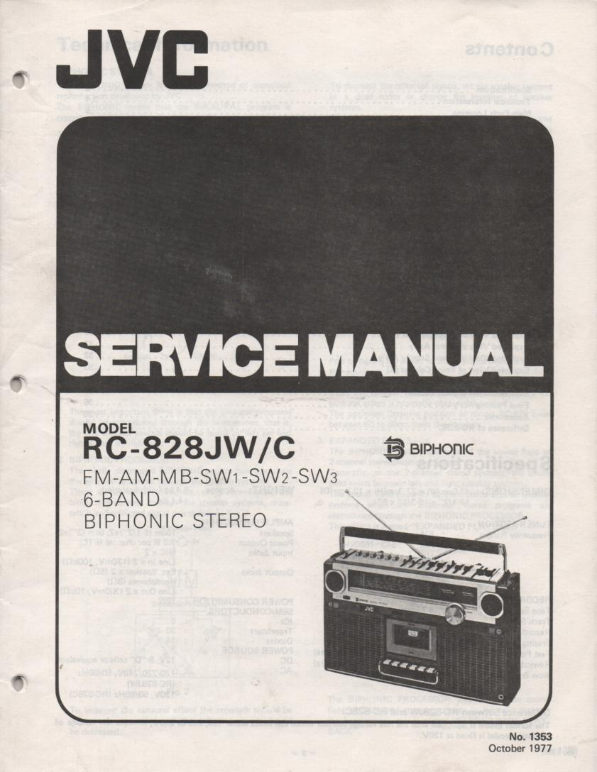 RC-828JW C Multi-Band Radio Service Manual