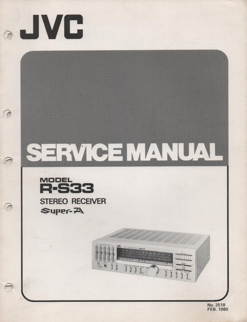 R-S33 Receiver Service Manual