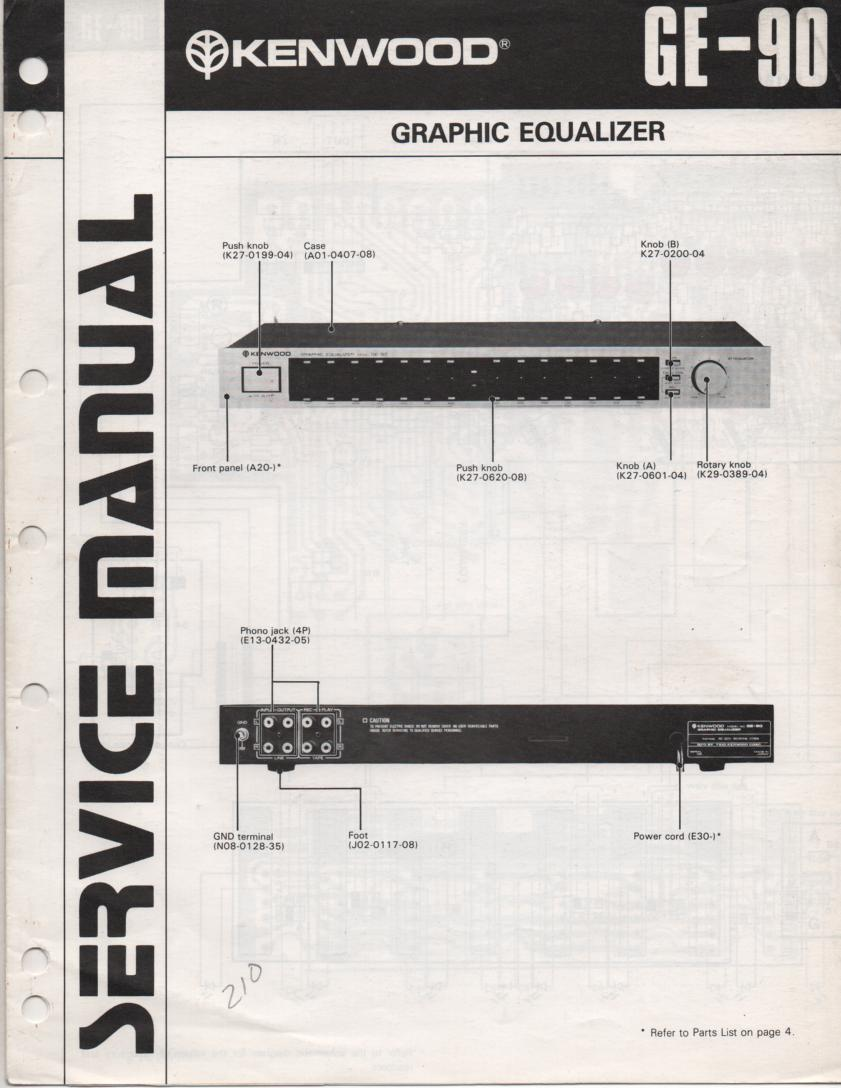 GE-90 Graphic Equalizer Service Manual B51-0796...880
