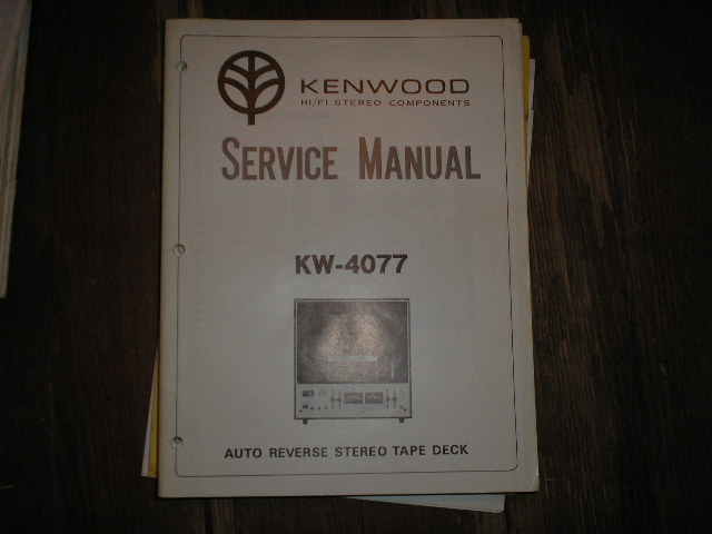 KW-4077 Reel to Reel Service Manual