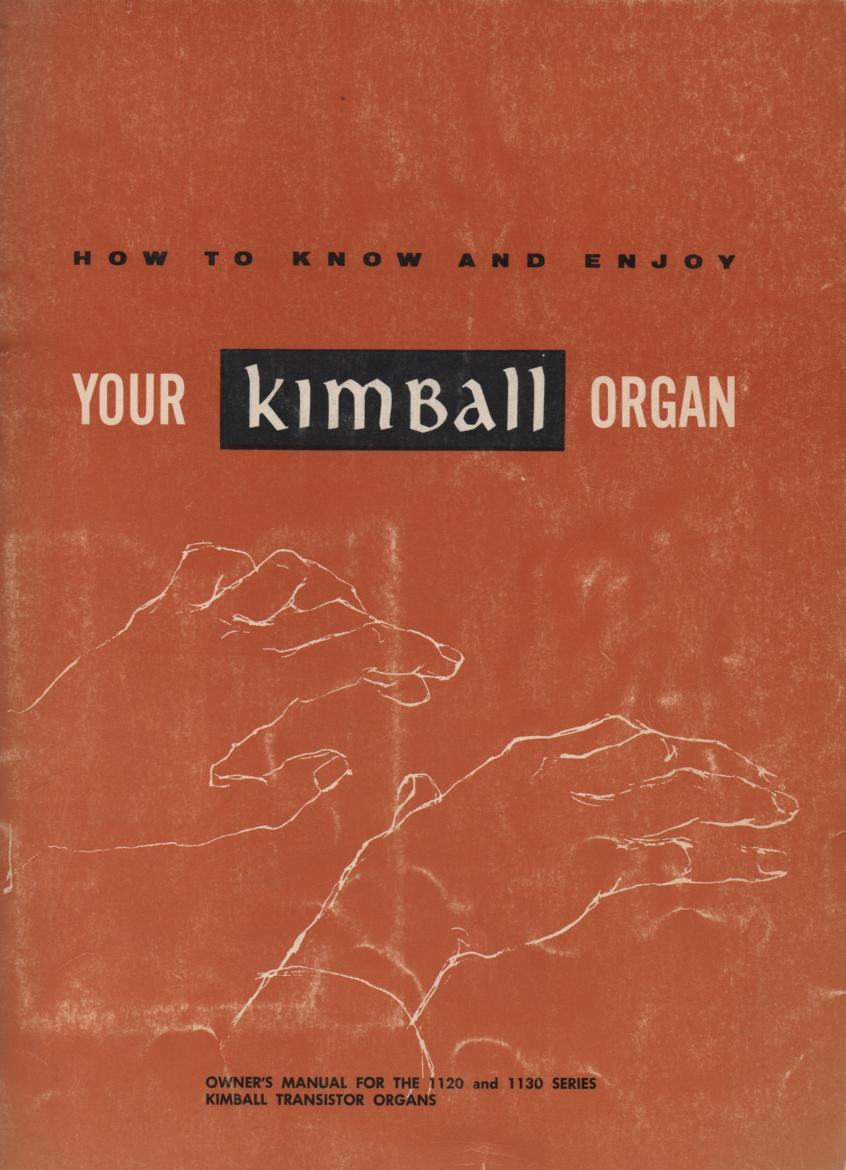 1120 1130 Organ Owners Operating Instruction Manual