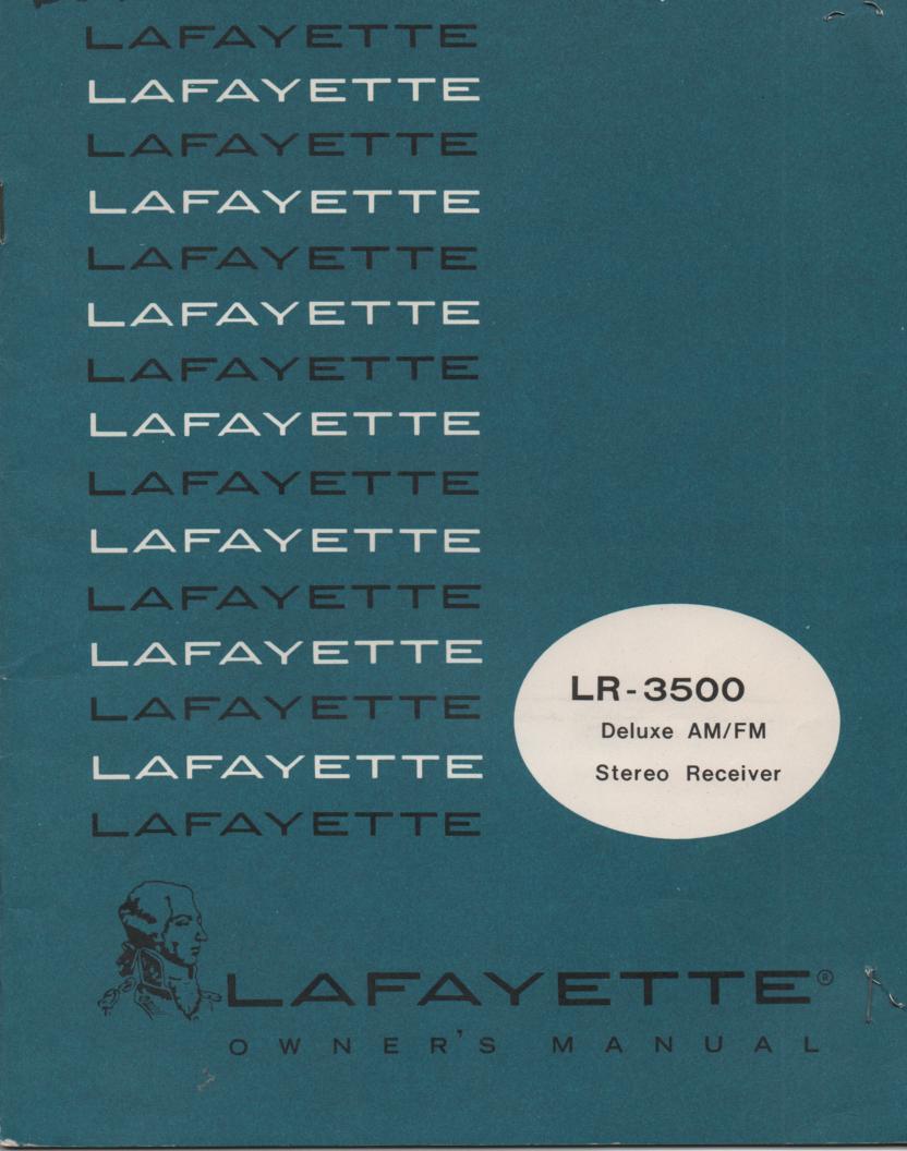 LR-3500 120 Watt Stereo Receiver Owners Manual