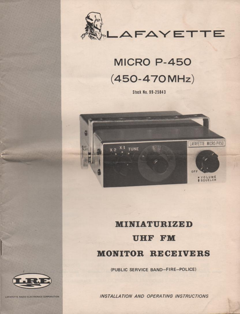 MP-450 Micro P-450 Owners Instruction Manual with schematic