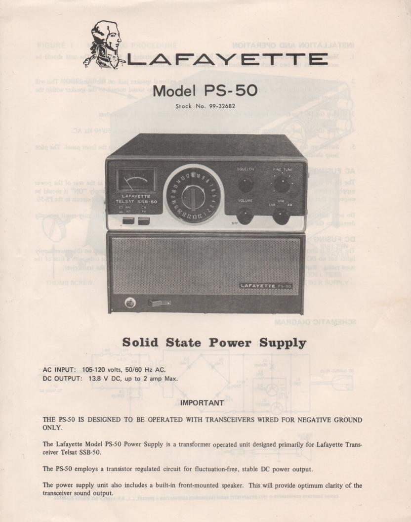 PS-50 CB Power Supply Manual