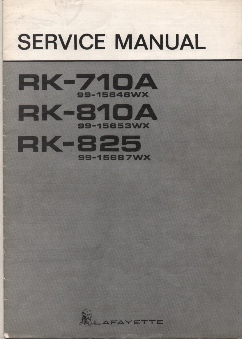 RK-710A Reel to Reel Service Manual
