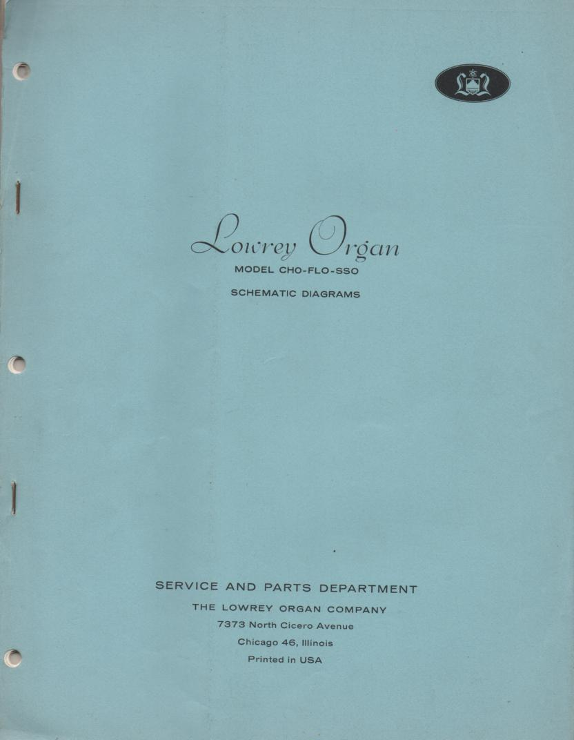 CHO FLO SSO Organ Service Manual