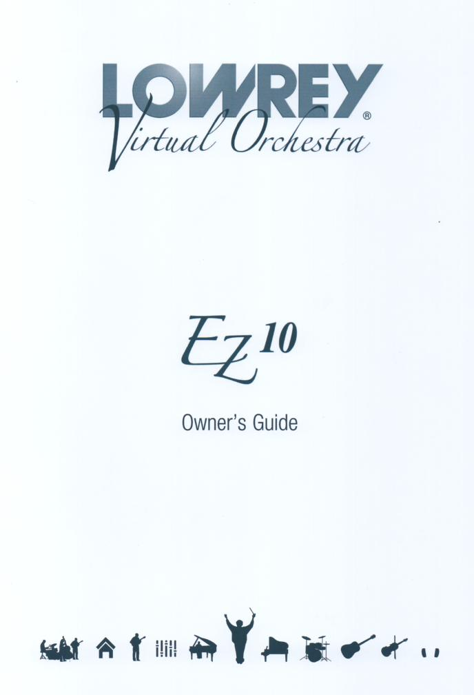 EZ10 Virtual Orchestra Organ Owners Manual.