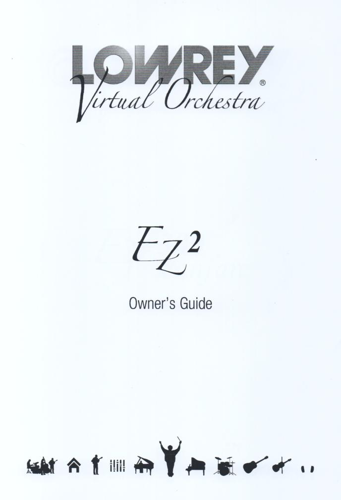 EZ2 Virtual Orchestra Organ Owners Manual.