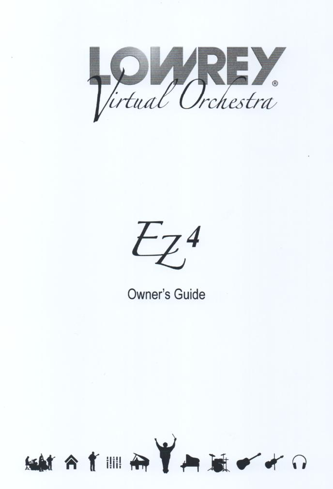 EZ4 Virtual Orchestra Organ Owners Manual.