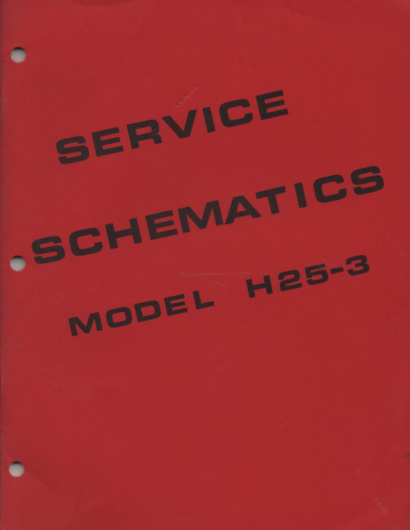 H25-3 Symphonic Theatre Console Organ Schematics Service Manual