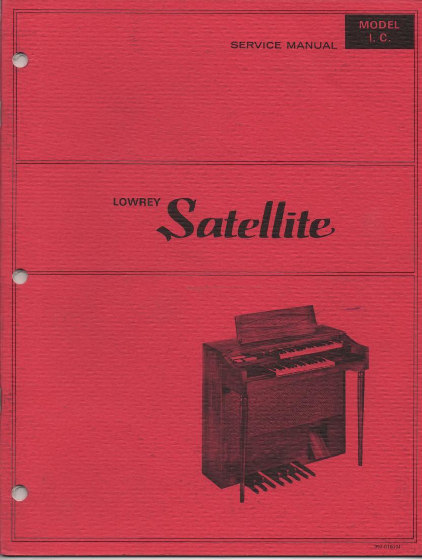 IC ICA-1 Satellite Organ Service Manual